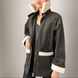 Shearling collar Biker moto jacket